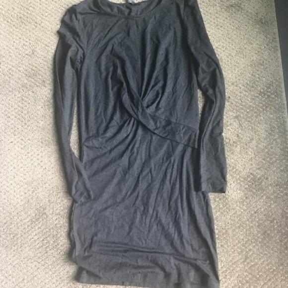 Dark Grey T-shirt knit  Mini Dress from Only